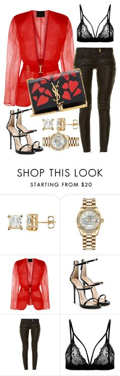 """Untitled #150"" by styledbytammy on Polyvore featuring Rolex, Giuseppe Zanotti, Balmain and Yves Saint Laurent"