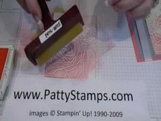 using a brayer on other side of embossed image