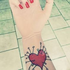 A Burtonized heart gives even the biggest romantics a bit of edge. | 27 Stunning Reasons To Get A Tim Burton Tattoo