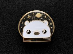 Space Chubs Bear Enamel Pin • Riselle's Shop
