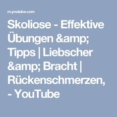 Skoliose - Effektive Übungen & Tipps | Liebscher & Bracht | Rückenschmerzen, - YouTube