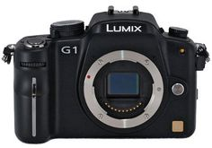 """Panasonic Lumix DMC-G1 12.1MP Micro Four Thirds Interchangeable Lens Digital SLR Camera (Black Body) by Panasonic. $349.00. 12.1 MegaPixels, Micro Four Thirds Lens System. 3"""" Free-angle LCD Display & EVF, Self Cleaning Sensor. Full-time Live View with Contrast AF, Intelligent Auto Mode. High Sensitivity (ISO 3200), HDTV Output. Creative Color Modes, Compact Camera Body. Save 42% Off!"""