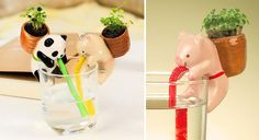 Cute Self-Watering Animal Planters #Gardering #Plants