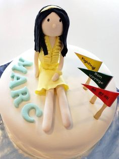 Girls generation (seo hyun) cake - ps: it's seo hyun wearing the yellow dress in the banana milk advertisement! Banana Milk, Girls Generation, Yellow Dress, Ps, Nom Nom, Bakery, Birthday Cake, Desserts, Food