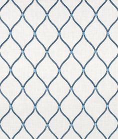 Williamsburg Deane Embroidery Porcelain Fabric ($37.50-41.40/yd)
