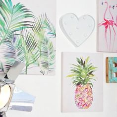 Today I am throwing in a random pineapple with a recent project I took part in with I do love an art wall and love this one I recently created in our hallway. It really does brighten up the place. And in a male dominated household who all hate Modern Family, Home And Family, Family Homes, Home Interior Accessories, Do Love, Own Home, Household, Pineapple, Hate