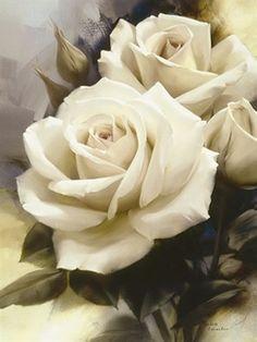 Igor + Levashov + - + Jungfrau + Rose - Potchen u Ä - Tattoos Rose Tattoos, Flower Tattoos, Rose Reference, Garden Drawing, Rose Art, Beautiful Paintings, Beautiful Roses, Flower Art, Flower Power