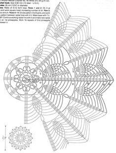 Crochet mandala cushion circles 31 Ideas for 2020 Crochet Doily Diagram, Crochet Doily Patterns, Crochet Mandala, Thread Crochet, Filet Crochet, Crochet Motif, Irish Crochet, Crochet Stitches, Crochet Squares