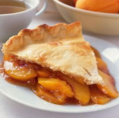 Peach pie - made with frozen peaches. Good recipe, made it this weekend.