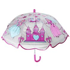 Find More Umbrellas Information about Children Cartoon Transparent Plastic Umbrella Princess Castle Safe Handle Umbrella For Girls,High Quality umbrella doll,China handle plastic Suppliers, Cheap handle shape from Singin' In The Rain on Aliexpress.com