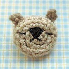 miji's amigurumi world: amigurumi emoticon bear pin (brooch)