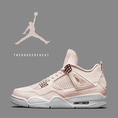 "25.2k Likes, 404 Comments - Jordan amp; Nike Sneaker Culture (@thehouseofheat) on Instagram: ""Would you COP or PASS on a quot;Rose Goldquot; AJ4? This concept is a sneaker we#39;d love to see for a…"""