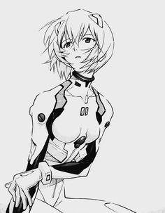 'rei ayanami' #manga #drawing #line