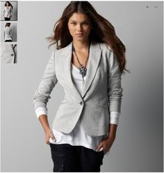 I want a new blazer in a light color, this one would be perfect!