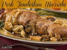Pork Tenderloin Marsala - This easy dinner recipe cooks up in only 20 minutes, so it's easy to whip together any day of the week!