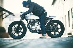 "Yamaha XS360 ""Number 4"" by The Hookie - love the knobblies!"