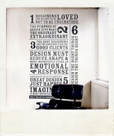 Love this style for our family values wall sign!!