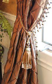 Elegant custom drapes by Betsy Lucido, Interior Decorator.