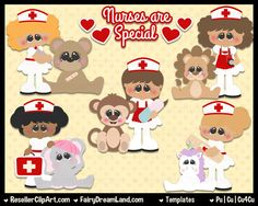 Little Nursie Psd Templates Cu4Cu - Commercial Use Layered Psd - Photoshop & Elements - Nurse, Medical, Hospital, RN, Word Art by ResellerClipArt on Etsy