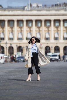 Chanel slingbacks at Paris Fashion Week