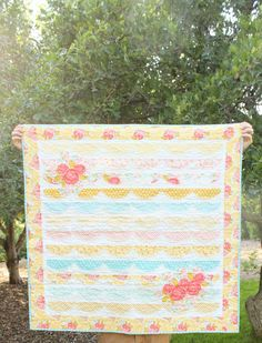 Rawedged Floral Quilt by mrsmateerdesign on Etsy, $150.00