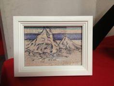 St. Lucia Piton Mountains Framed Illustration