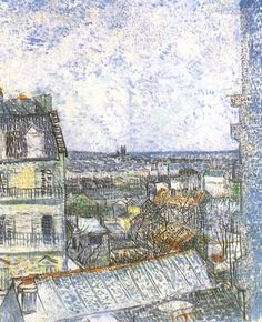 Vincent van Gogh. View of Paris from Vincent's Room in the Rue Lepic. Paris: Spring 1887