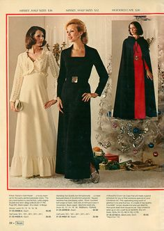 1973 Sears Christmas Catalog evening gowns.