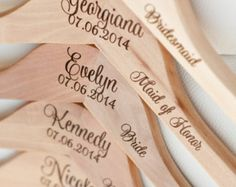 4 Personalized Bridesmaid Hangers Engraved by DelovelyDetails