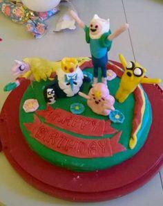 Adventure Time Kuchen Adventure Time, Birthday Cake, Desserts, Food, Birthday Cakes, Meal, Deserts, Essen, Finn Jake