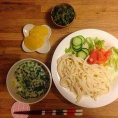 おいしいありがとう - 4件のもぐもぐ - オット作豆乳サラダうどん by chi05