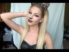 "I thought it was going to be ridiculous because it was a ""sexy leopard"" but it's actually very beautiful....Sexy Leopard Halloween Tutorial ♡ AlisonLovesJB"