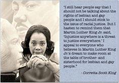 Coretta Scott King.  Wife of Dr. Martin Luther King, Jr. Member of Alpha Kappa Alpha Sorority.