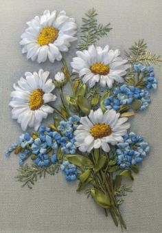 Wonderful Ribbon Embroidery Flowers by Hand Ideas. Enchanting Ribbon Embroidery Flowers by Hand Ideas. Ribbon Embroidery Tutorial, Silk Ribbon Embroidery, Hand Embroidery Patterns, Embroidery Kits, Embroidery Stitches, Embroidery Designs, Flower Embroidery, Embroidery For Beginners, Embroidery Techniques