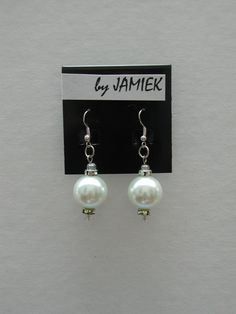 Earrings Grand Pearl Drop in Silver with by rrdesigns561 on Etsy