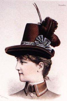 1885, victorian ladies hat