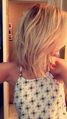 Blonde lob hairstyle