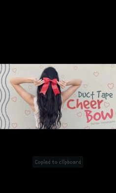 how to make a duct tape cheer bow
