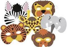 alle dieren uit de zoo. gemaakt van karton.