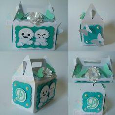 Caixa Milk 2 Espirros com detalhes floral e borboleta Frozen Fever by Oliver Festas Infantis