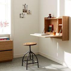 Plateau væghængt skrivebord Do It Yourself Projects, Tiny Living, Corner Desk, Diy Ideas, Kids Room, Ikea, Inspiration, Furniture, Home Decor