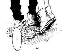 Manga Shoujo Manga - Stand Up! Main Manga, Manga Love, Anime Love, Aesthetic Art, Aesthetic Anime, Aesthetic Tattoo, Couple Manga, Creepy, Japon Illustration