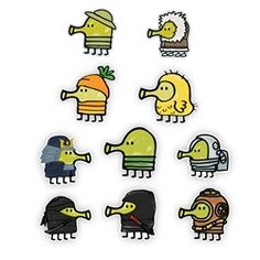 Doodle Jump Mini Collection: Doodle Jump Set I Doodle Jump Video Game Wall Graphics Jumping Gif, Bowser, Video Game, Cross Stitch, Doodles, Snoopy, Graphics, Mood, Punto De Cruz