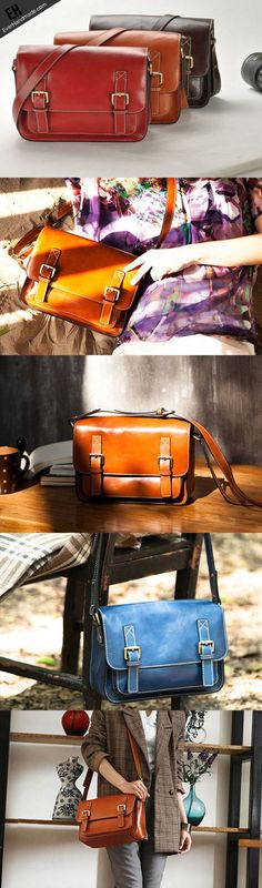 Handmade vintage leather Satchel Bags crossbody bag Shoulder Bag for g | EverHandmade