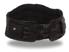 Leather Motorcycle Kidney Belt with Back Support