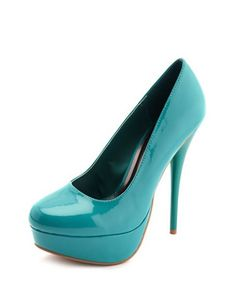 Found something like that shoe that's everywhere (thanks someone else) - Electrifying Patent Platform Pump: Charlotte Russe