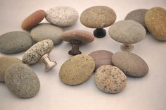 Beach and River Rock Cabinet Knobs Pulls  by aimeesrockworks, $8.25