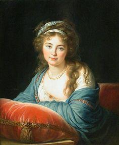 Portrait of Empress Elisabeth Alexeievna of Russia, 1795  Louise Elisabeth Vigee Le Brun