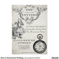 Alice In Wonderland Wedding Invitation   Orderable