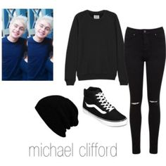 michael clifford , outfit,polyvore,vans! love